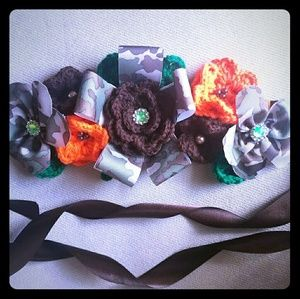 Accessories - Camouflage baby shower sash/maternity belt